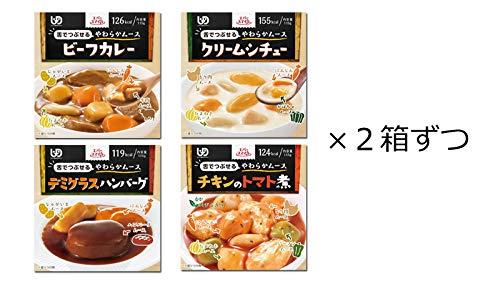 介護食 常温保存 ムース食 エバースマイル 定番洋食メニュー 4種セット 詰め合わせ レトルト おかず