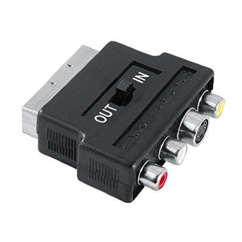 HAMA Adattatore S-VHS F + 3 RCA F Scart M, in-out, 1 stella