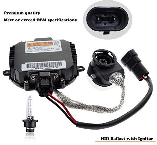 HID Ballast with Ignitor - Headlight Control Unit -Fits Nissan Murano, Maxima, Altima, 350Z, Infiniti QX56, G35, FX35 - Xenon Ballast Replacement 28474-8991A, 28474-89904, NZMNS111LANA Xenon