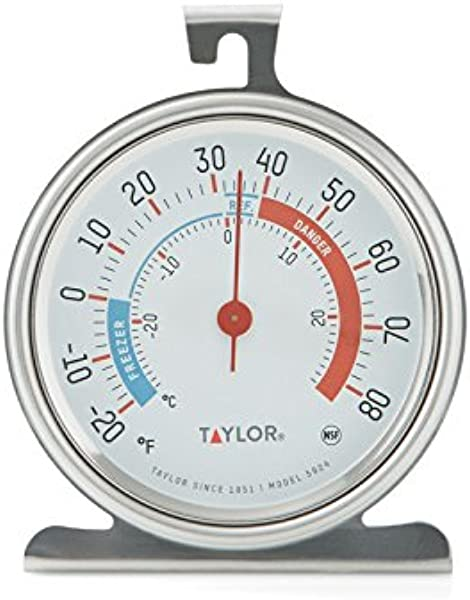 Taylor Precision Products Classic Series Large Dial Thermometer 2 Pack Freezer Refrigerator