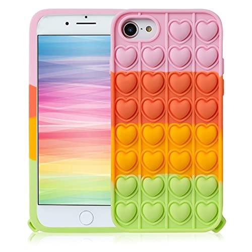 STSNano Pink Heart Cover Custodia Silicone Fidget per iPhone 6 6S 7 8 SE 2020 4.7  per Bambini Ragazze Ragazzi Divertente Casi Carattere Fun Carino Fantastico Kawaii Unico per iPhone 6 6S 7 8 SE 2020