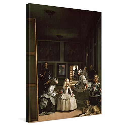 PICANOVA – Diego Velázquez – Las Meninas 30x40cm – Cuadro sobre Lienzo – Impresión En Lienzo Montado sobre Marco De Madera (2cm) – Disponible En Varios Tamaños – Colección Arte Clásico