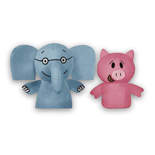 YOTTOY Mo Willems Collection   Elephant & Piggie Pair of Finger Puppets