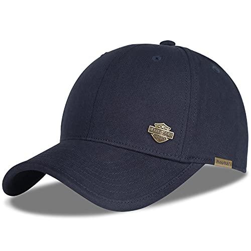 HASAGEI Basecap Herren Classic Kappe Damen Baseball Cap Herren Baseball-Cap Schwarz Basecap Sommer Unisex Kappe Verstellbar Baseballmütze (Blau)