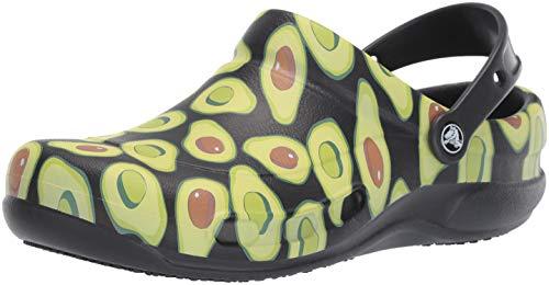 Crocs Unisex-Erwachsene Bistro Graphic Clogs, Schwarz (Black/Volt Green 09w), 45/46 EU