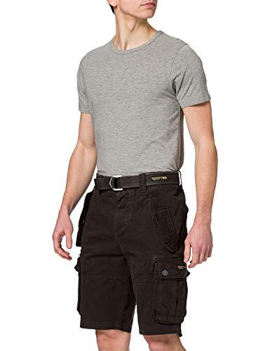 Superdry Mens CORE Heavy Cargo Shorts, Bitter Black, 36