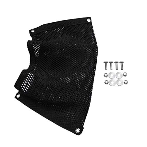 YiMusic Durable Black Nylon Marine Boat Gear Accessories Beer Storage Mesh Bag Suit for Marine Boat Hold Pouch Organizer Accessories