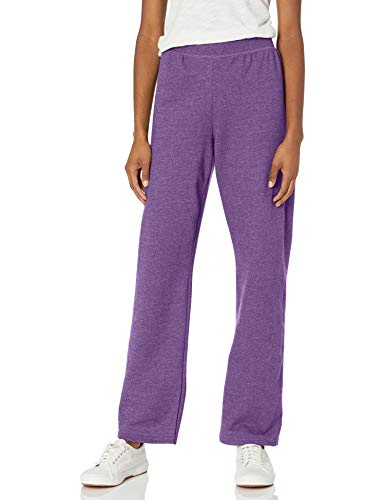 Hanes womens ComfortSoft EcoSmart Women's REGULAR Open Bottom Leg Sweatpants Violet Splendor Heather XX-Large
