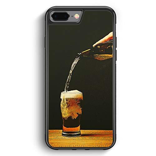 Bierglas Bier - Silikon Hülle für iPhone 8 Plus - Motiv Design Jungs Herren Männer - Cover Handyhülle Schutzhülle Hülle Schale