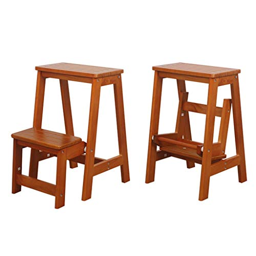 JPL Inicio Taburetes, taburete Escalera Asientos de la silla Escalera de madera...