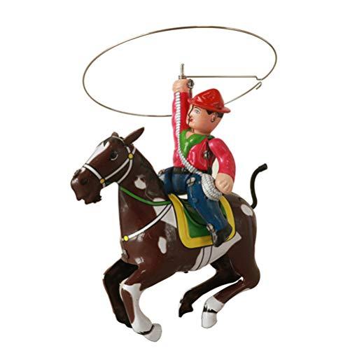 Toyvian Vaquero Montando Caballo Juguete Vaquero Occidental estatuilla Jinete Figura Vaquero Juguete Mesa Decorativa Centro de Mesa Vaquero para Oficina en casa Regalo para niños