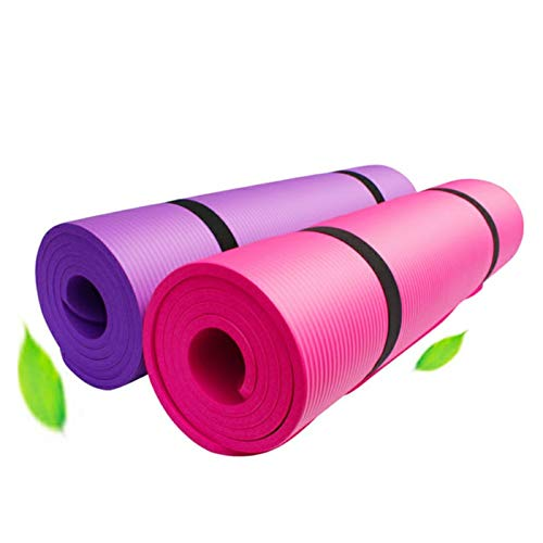 PERPETUAL Esterilla Yoga Mat Antideslizante 10mm Correa Transporte Colchoneta Gruesa Plegable Ligera Gimnasia Pilates Fitness Gimnasio Casa Ejercicios Hombre Mujer Ecológica Deporte…