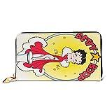Betty Boop - Cartera de piel de primera calidad, soporte largo para tarjetas de crédito para niñas y mujeres, regalo perfecto para madre/hija/novia