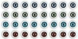 Puppenaugen – 32 Stück Kunststoff-Augäpfel, halbrund, hohl, falsche Augen, Augäpfel für Handwerk, Puppenbär, Kinder-Kunstprojekte, Halloween-Requisiten, Nähen, Verzierung, 4 Farben, 20 mm Durchmesser
