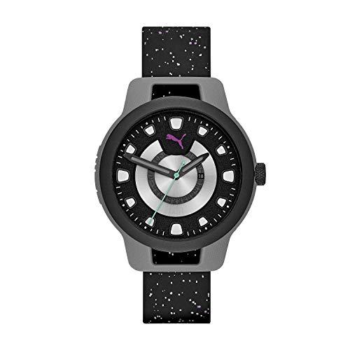 Puma Reset - Reloj de Silicona Negro para Hombre - P5010