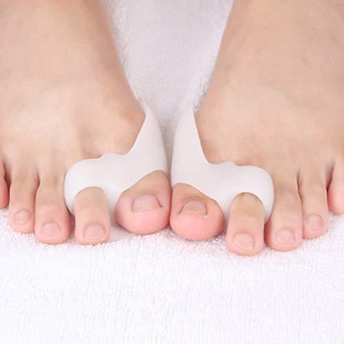 1 Paire Oignon Correcteur Silicone Hallux Valgus Oignon Soulagement Gel Toe Protecteur Séparateurs Bunion Pads (Color : Natural)