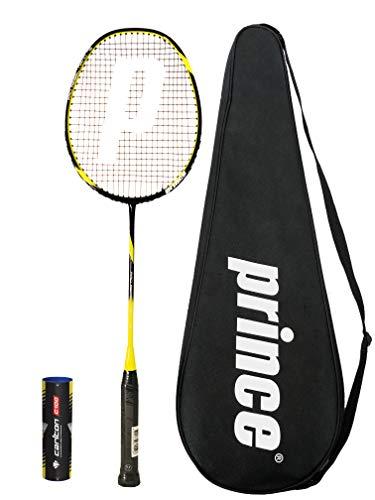 Prince Pro Nano Ti 75 Graphite Badmintonschlager Series + 6 Federballe (Verschiedene Optionen) (Rebel)