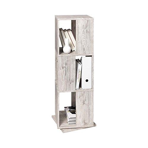 FMD furniture 291-001E, drehbares Regal, in Ausführung Sandeiche Nachbildung, Maße ca. 34 x 108 x 34 cm (BHT), Melaminharz beschichtete Spanplatte