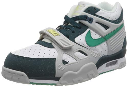 Nike Air Trainer 3, Zapatillas de Gimnasio Hombre, White Neptune Green Midnight Turq, 40 EU