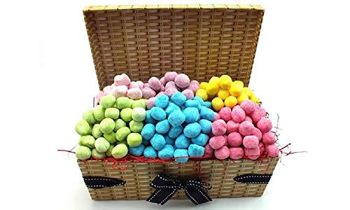 Bon Bons Sweet Hamper. 1.2kg of bonbons in a lovely wicker hamper with ribbon and bow.