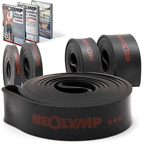 NEOLYMP Premium Pull Up Fitness Band | Parfait pour la musculation et le crossfit Freeletics Calisthenics | Bande de résistance Pull Up Fitness Band (Noir Niveau 3)