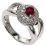 [セレクトジュエリー]ルビー ダイヤモンド リング・指輪 K18ホワイトゴールド レディース (中古)