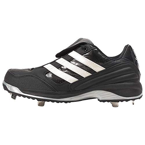 adidas Excel IC Men's Metal Baseball Cleats Spikes, Black/White, 16 M US