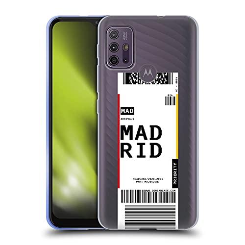 Head Case Designs Madrid, Italy Etichette da Bagaglio Cover in Morbido Gel Compatibile con Motorola Moto G10 / Moto G30