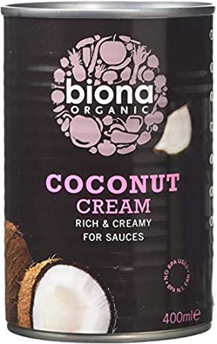 Biona Organic Coconut Cream 400ml (Pack of 6)