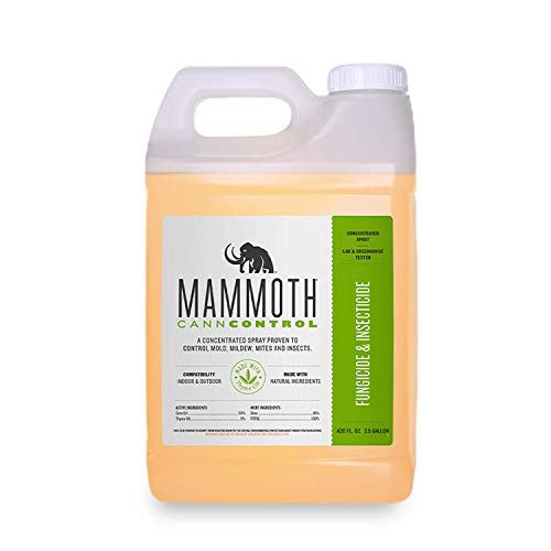 Mammoth CANNCONTROL Concentrated Insecticide Spray for Plants, Organic Pesticides for Vegetable and Spider Mites Spray for Indoor Outdoor Plants (2.5 Gallons)