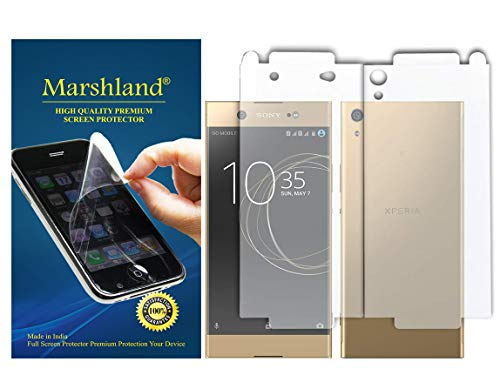 Marshland Front & Back Screen Protector Anti Scratch Bubble Free Oleo Phobic Coating Screen Guard Compatible for Sony Xperia Xa1 Ultra