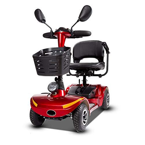 ZZUU Elektro Scooter Für Senioren, e-Mobil Mini Scooter Elektro Elektrofahrzeug/Scooter e-Mobil,Eltern-Kind-Sitz, Doppelt,A