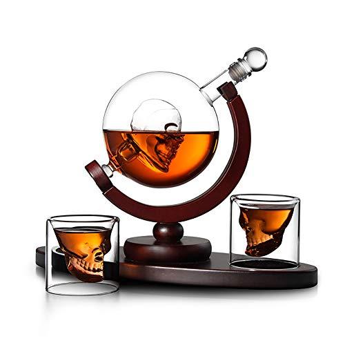 Whisky karaf 850 ml mondgeblazen en 2 glazen set van elk 850 ml glazen karaf wereld decanteerder fles 80 ml l glazen fles likeur jenever wijn karaf decanteerder