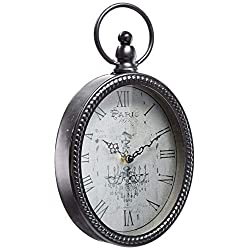 Stratton Home Decor -- Dropship, us home, SUHQX S02198 Antique Black Oval Wall Clock Antique Oval Wall Clock,Black