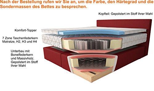 Boxspringbett Piano H2 H3 H4 Ohne Aufpreis kaufen  Bild 1*