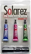 Solarez Fly Tie UV Cure Resin - Roadie Kit - Thin Hard, Thick Hard, Flex Formulas (three 5 gram tubes with UV Flashlight) Fly Tying, Fly Fishing, Build Fly Heads and Bodies