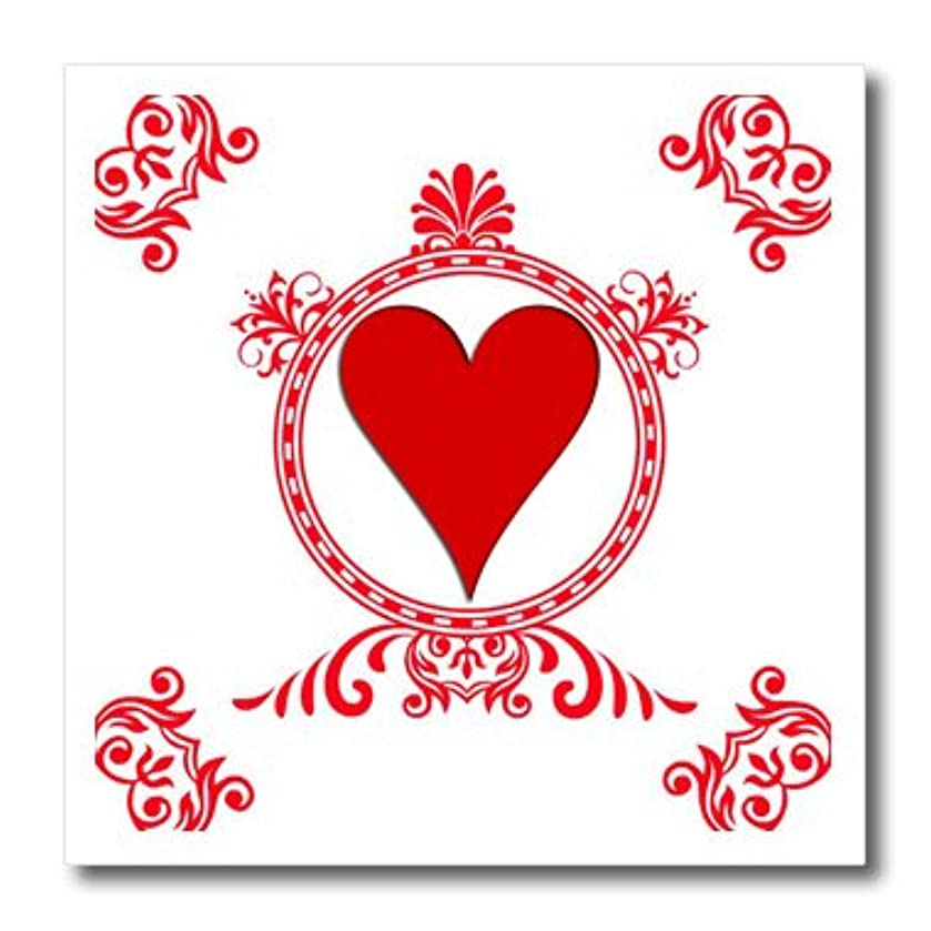 3dRose ht_218676_3 Ace of Hearts. Playing Cards. Poker. White and Black. Popular Image. - Iron on Heat Transfer, 10 by 10