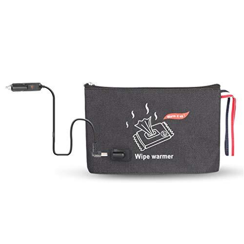 HehiFRlark Dispensador de Toallas húmedas Toallitas para bebés Calentador Termostato Calentador de Papel tisú húmedo Caliente Tipo de Cargador Negro