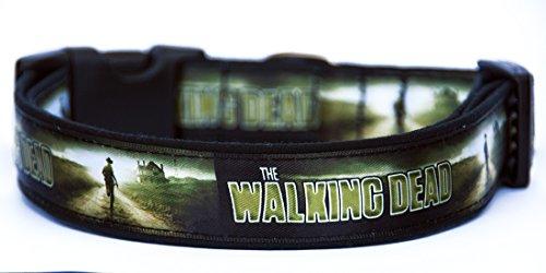 The Walking Dead B Collar Perro Hecho A Mano Talla XL Handmade Dog Collar