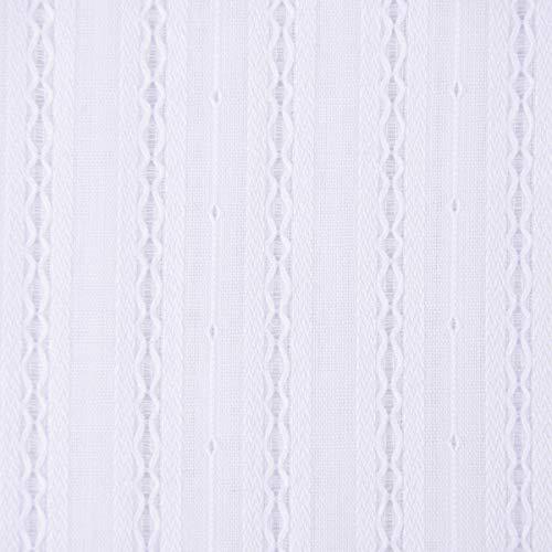 SCHÖNER LEBEN. Bekleidungsstoff Blusenstoff Lochstreifen Zacken einfarbig weiß 1,40m Breite