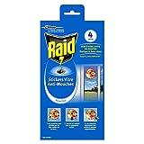 Raid Stickers Vitre Anti-Mouches, Efficacité 4 Mois, Forme Fleur, Insecticide, Lot de 4