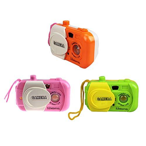 TOYANDONA 3pcs Mini cámara de Juguetes Kids Party Favors Regalo de cumpleaños (Color al Azar)