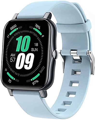 Smart Watch, Tracker de Fitness para Hombre IP68 Reloj Deportivo Impermeable con presión Arterial/oxígeno en la Sangre/Monitor de frecuencia cardíaca para iOS Androide (Color : F)