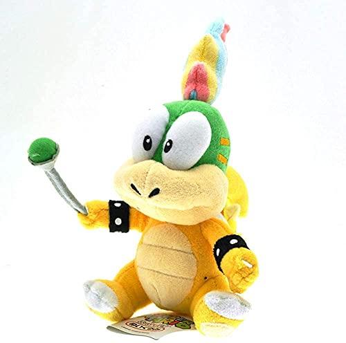 CHAOGG 18 cm Lemmy Koopa Stofftierpuppe Super Mario Bros. Lemmy Bowser Koopalings Kuscheltier