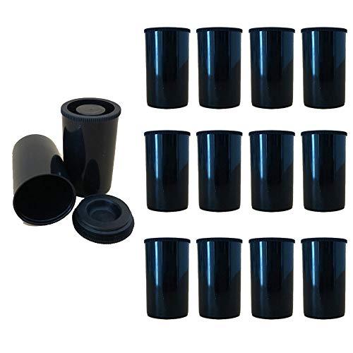 XINGSUI 12-teiliger Kunststofffolientank, Kamerafilmtank mit Deckel, multifunktionale Mini-Aufbewahrungsbox, kleiner Stauraum für wissenschaftliche Aktivitäten und Geräte zur Schatzsuche (schwarz)