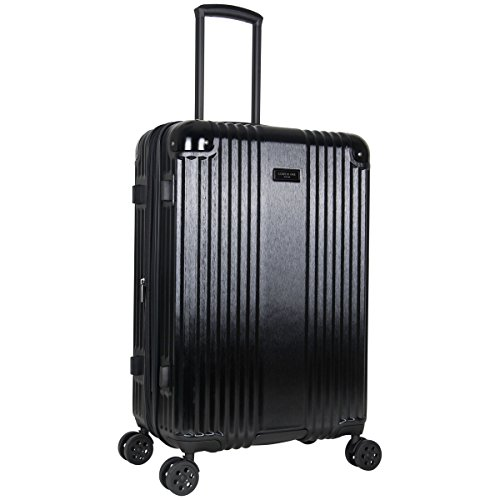Kenneth Cole New York Tribeca 24-inch Lightweight Hardside Expandable 8-Wheel Spinner TSA Lock Checked Suitcase, Black