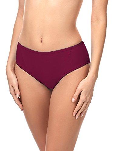 Merry Style Damen Bikini Slip 18 (Weinrot (5288), 40)