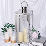Tableclothsfactory 22' Silver Stainless Steel Lantern...