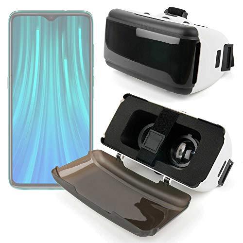 Duragadget - Maschera VR di realtà virtuale rigida, compatibile con Xiaomi Redmi Note 8 / Note 8 Pro Smartphone 4G