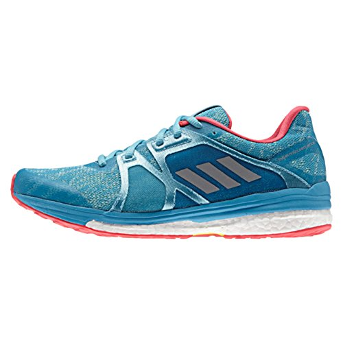 adidas Women's Supernova Sequence 9 W Running Shoe, Vapour Matte Silver/Craft Blue Fabric, 5 M US